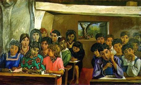 La escuelita rural, 1956. Obra de Antonio Berni